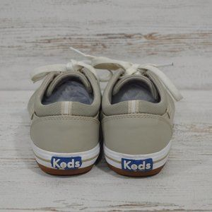 Keds  Taupe  Leather  Ortholite Sneakers 6.5
